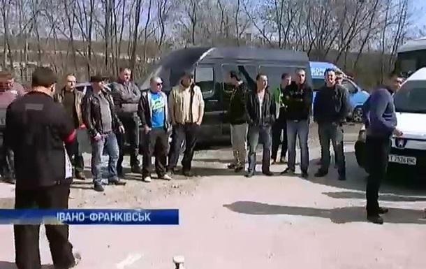 Предприниматели заблокировали таможенный пост в Ивано-Франковске