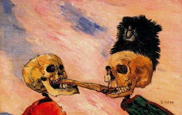 Скелеты, дерущиеся за селедку