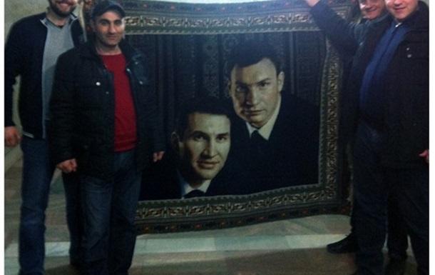 Ковер для Кличко...из Дагестана.
