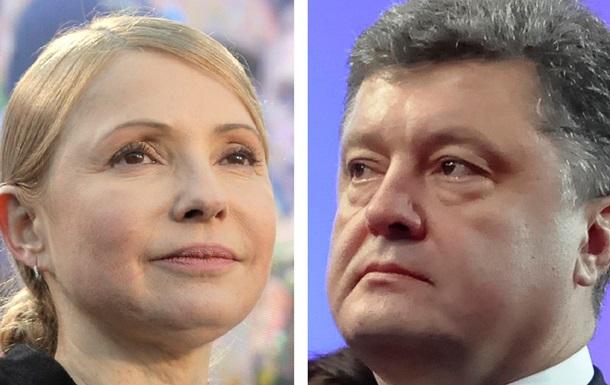 Порошенко VS Тимошенко. Церемонии выдвижения в президенты самых рейтинговых кандидатов