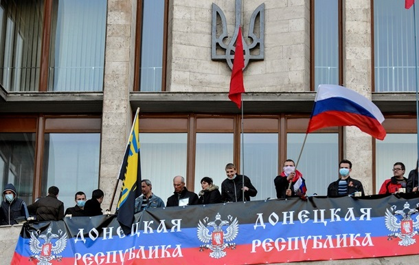 Захватившие Донецкую ОГА люди провозгласили Донецкую народную республику