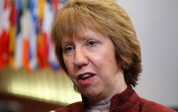 ЕC встревожен ситуацией в трех русскоязычных областях Украины - Эштон