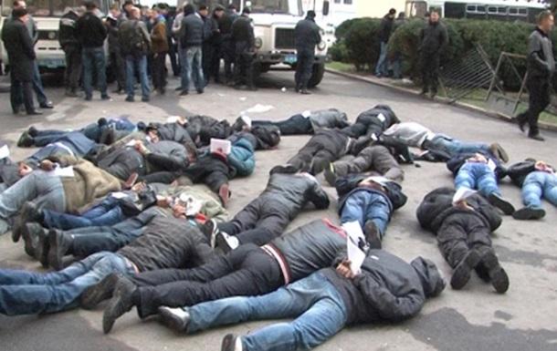МВД обнародовало фото и видео о задержании пророссийских протестующих в Харькове