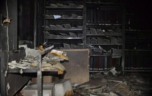 Ущерб от пожара в Харьковской ОГА оценили в 10 млн грн