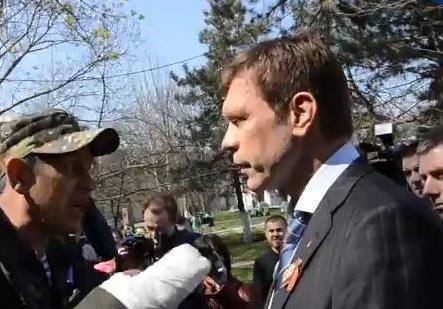 Кандидат в президенты Олег Царев подрался (полная версия)