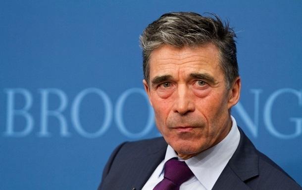 Расмуссен обещает обеспечить оборону членов НАТО в ответ на действия РФ