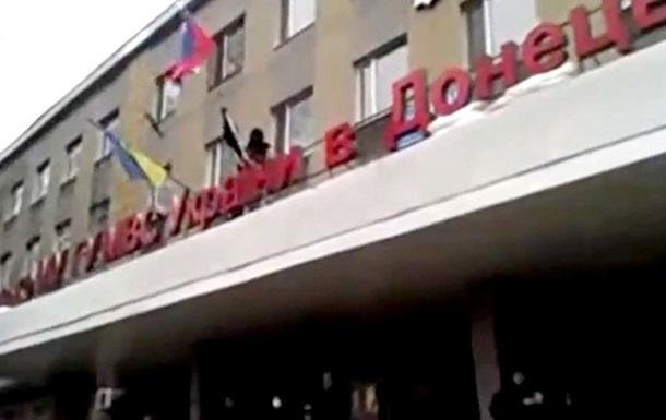 Штурм горуправления милиции в Горловке. Видеоподборка