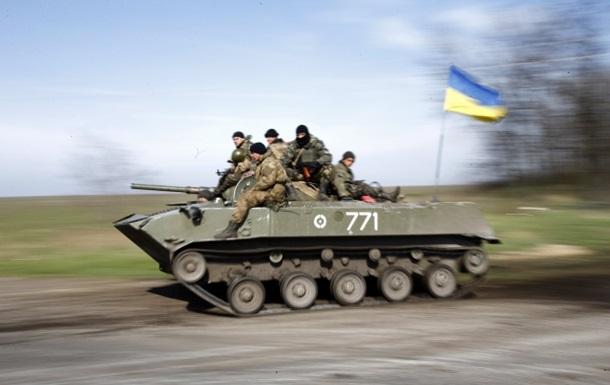 Краматорск покидают 15 единиц бронетехники - Минобороны