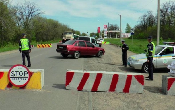В Кировоградской области установили 10 блокпостов