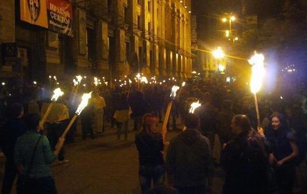 Факельное шествие в Киеве в память о погибших активистах. Онлайн-трансляция