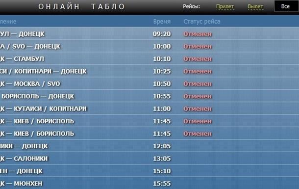 Аэрофлот отменил рейсы в Донецк и Харьков до конца мая