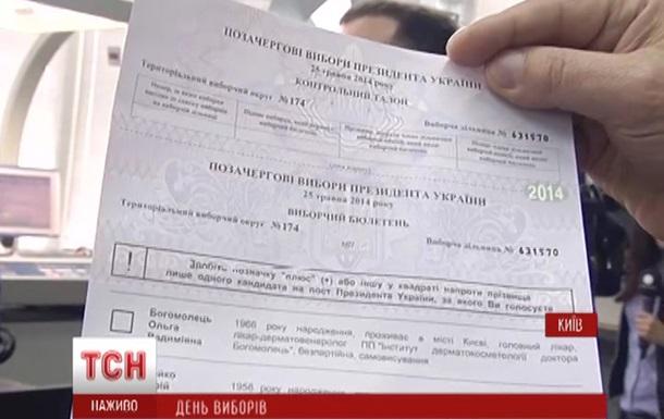 Бюллетень для выборов президента Украины не горит и меняет цвет - СМИ