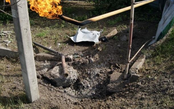 В Славянске снарядом повредило газопровод