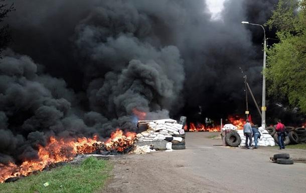 Под Славянском пять населенных пунктов полностью обесточены из-за боевых действий