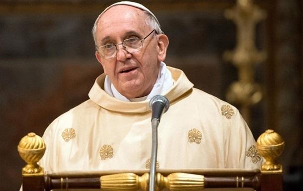 Папа Римский помолился за мир в Украине