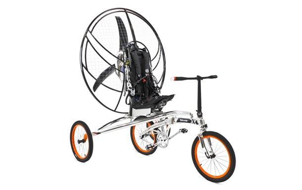 В Британии поступил в продажу первый летающий велосипед