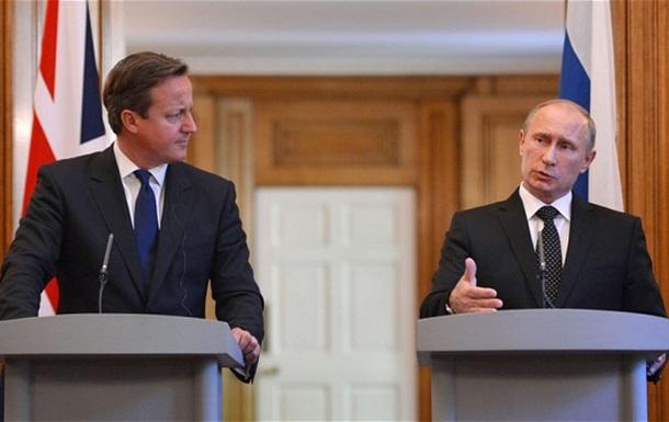 Встреча Путина с Кэмероном прошла без рукопожатия