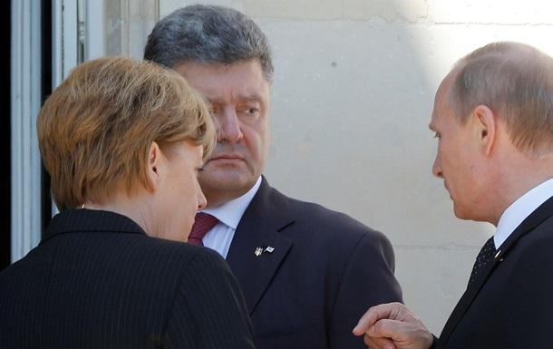 Порошенко неформально пообщался с Путиным и Меркель