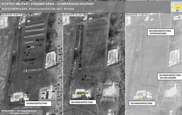 НАТО показало снимки  переброски Россией танков в Украину