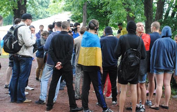 В Киеве прошла акция против войны на Донбассе