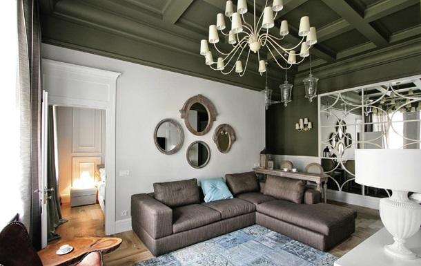 Фото дизайна потолка гостиной