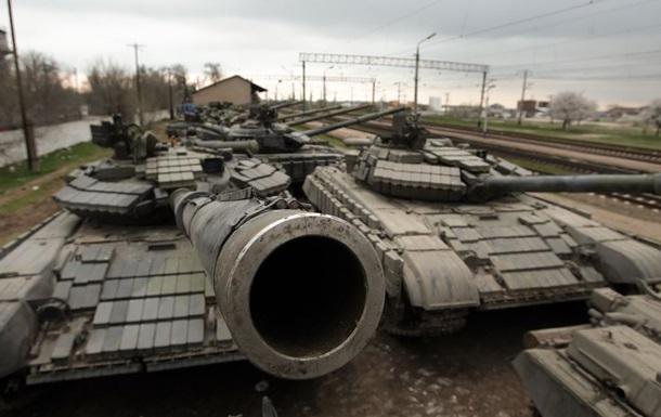В Ростовской области стоят танки с украинской символикой - СНБО