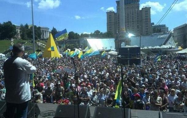 Участники вече на Майдане выдвинули требования президенту