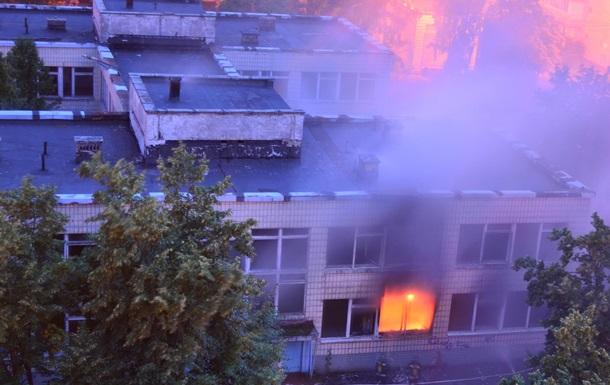 Пожар в днепровском районе