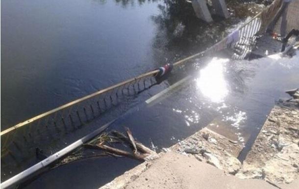 В Луганской области взрывом поврежден мост через Северский Донец
