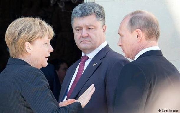 Путин, Меркель и Олланд выступили за прекращение АТО - Кремль