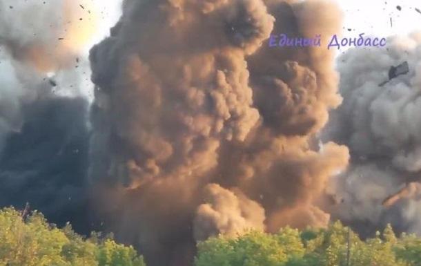 Взрыв моста под Горловкой: видео с места событий