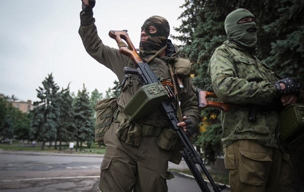 Вооруженные люди покинули здание казначейства в Луганске