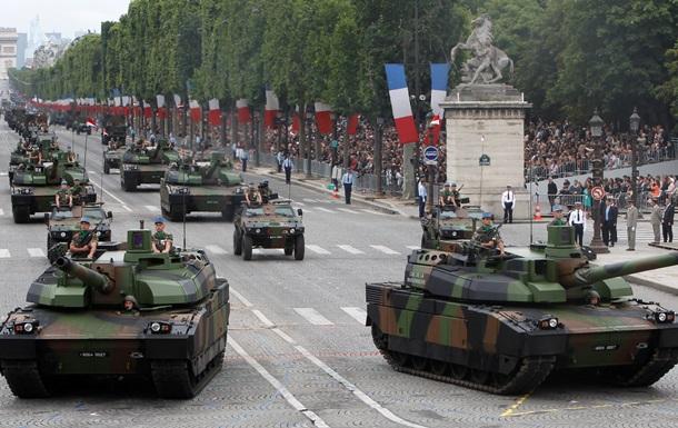 Французы устроили грандиозный военный парад