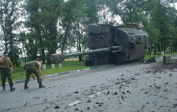 В России перевернулась самоходная артиллерийская установка, следовавшая к границе с Украиной