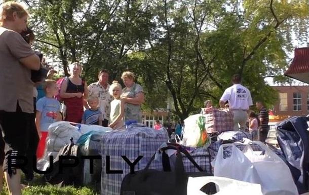 Еще одна группа беженцев покинула Донецк