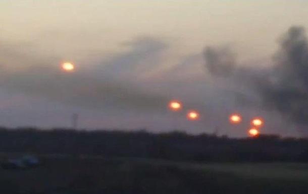 Опубликованы видео работы  Града , предположительно, с территории РФ