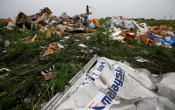 Фото с места падения Боинга в Донецке