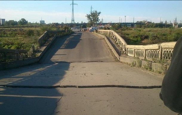 В Северодонецке взорван мост через реку