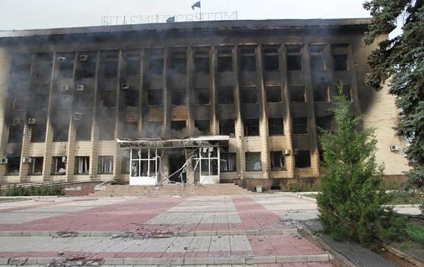 Освобожденный Дзержинск: при боях сгорела горадминистрация