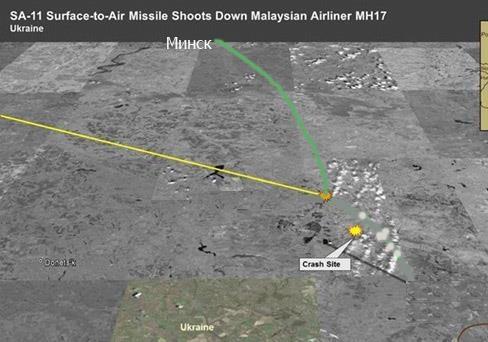 США показали траекторию полета ракеты, сбившей Боинг