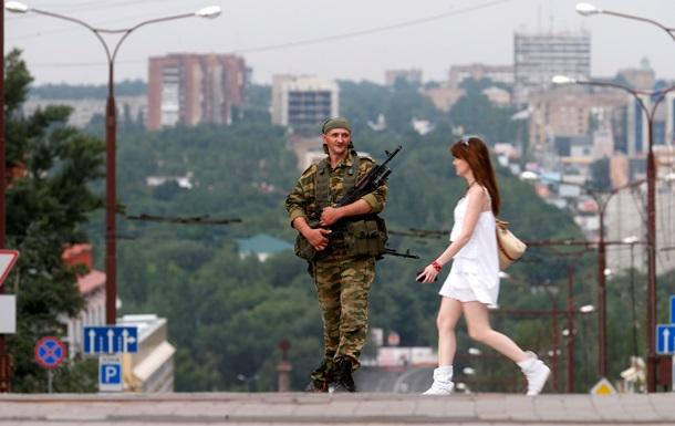 Ночные пожары и стрельба в Донецке