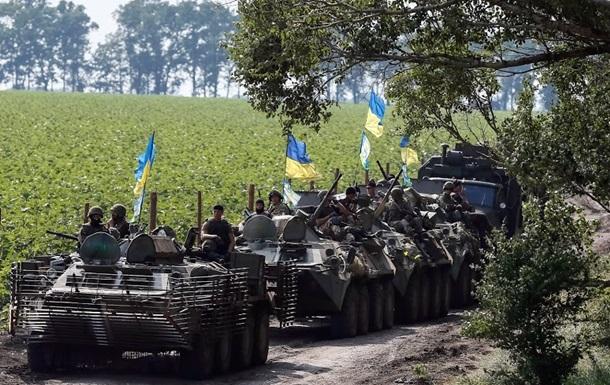 Карта АТО в Украине
