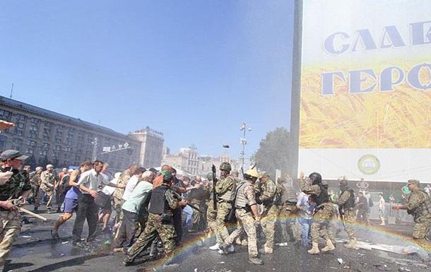 МВД сообщает о пострадавших милиционерах  в ходе столкновений на Майдане