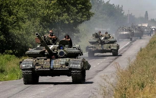 Силы АТО утверждают, что перекрыли дороги между Донецком и Луганском