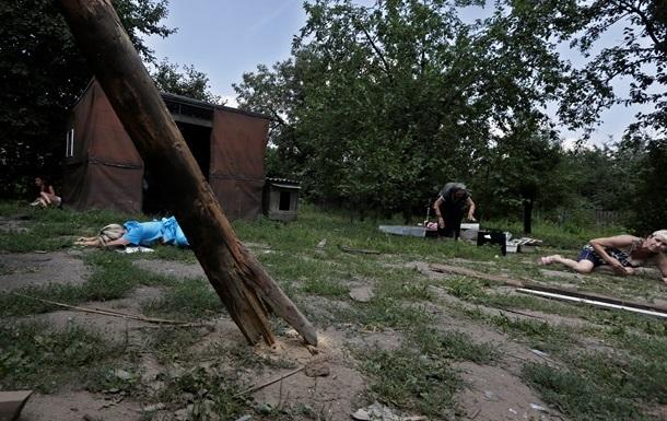 В двух районах Донецка слышны залпы и взрывы