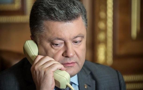 Порошенко обсудил с Байденом ситуацию с поставкой гуманитарной помощи в Украину