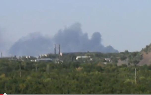 В Донецке был большой пожар, предположительно горел аэропорт
