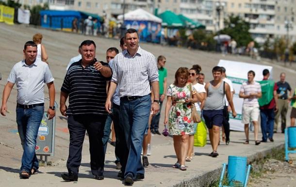 Кличко обещает кардинальные изменения Оболонской набережной
