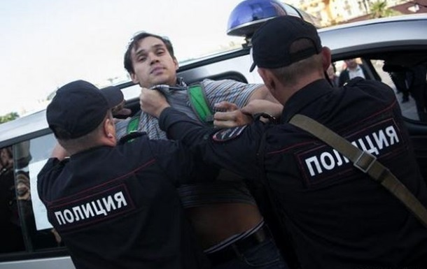 В Москве на антивоенную акцию пришел только ее организатор