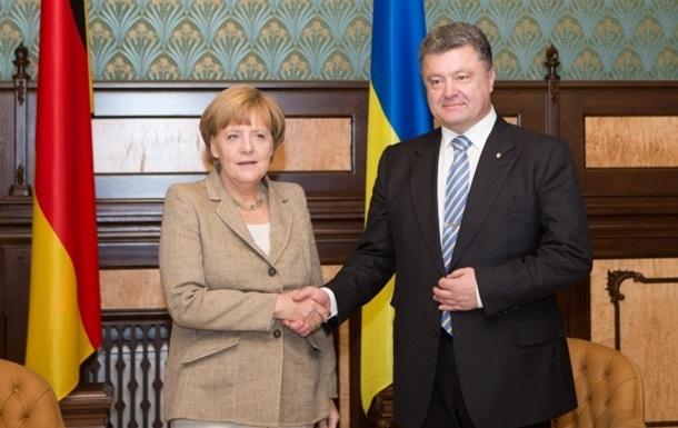 Порошенко и Меркель скоординировали действия перед заседанием ЕС